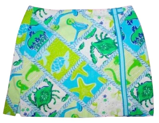 Item - Blue Green Y2k Starboard Patch Shorts Size 6 (S, 28)