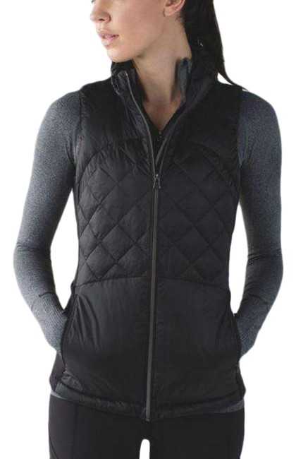 Item - Black Down For A Run Ii Puffer Quilted Zip Up Activewear Outerwear Size 2 (XS)