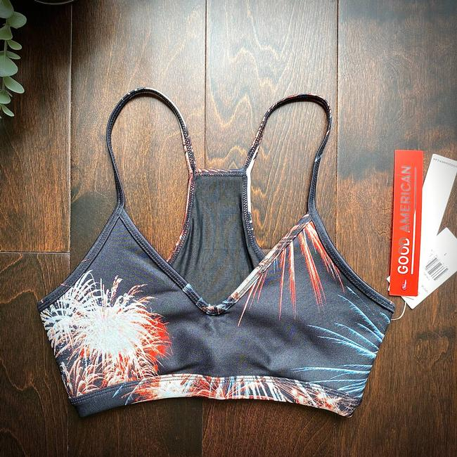Item - Black Barely There Fireworks Activewear Sports Bra Size 4 (S, 27)