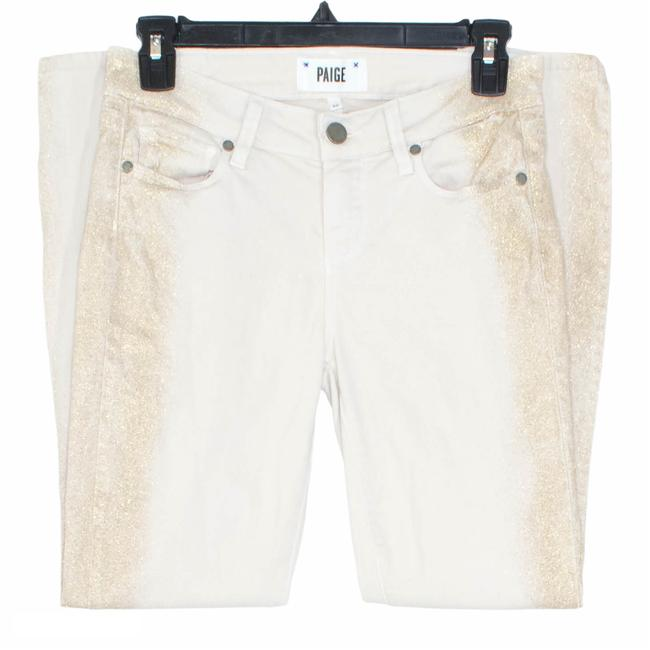 Item - Tan Womens Verdugo Ankle Gold Glitter By Skinny Jeans Size 26 (2, XS)