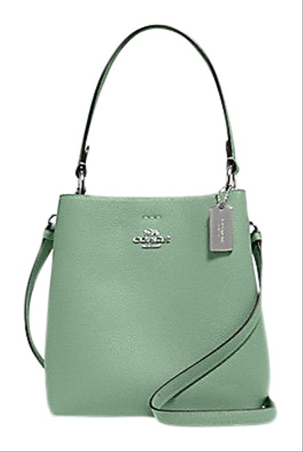 Item - Bucket Small Town Washed Green Leather Shoulder Bag