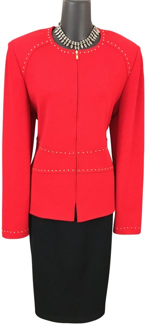 Item - Red Collection Jacket Knit Suit Blazer Size 10 (M)