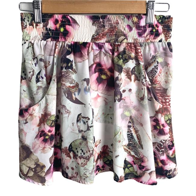 Item - Purple Anthropologie Floral Butterfly Pockets Full A Line M Skirt Size 8 (M, 29, 30)