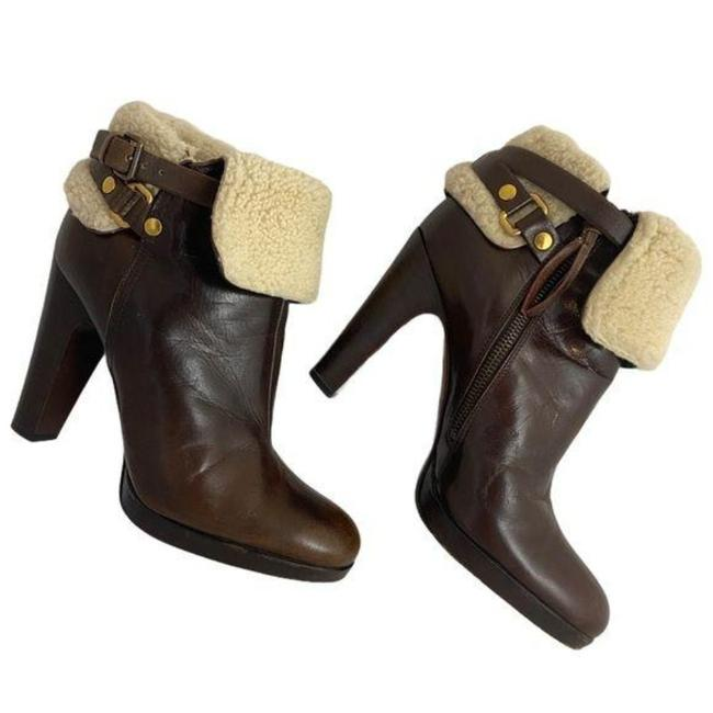 Item - Brown Sherpa Ankle Boots/Booties Size EU 38.5 (Approx. US 8.5) Regular (M, B)
