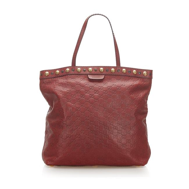 Item - Bag ssima Babouska Red Leather Tote