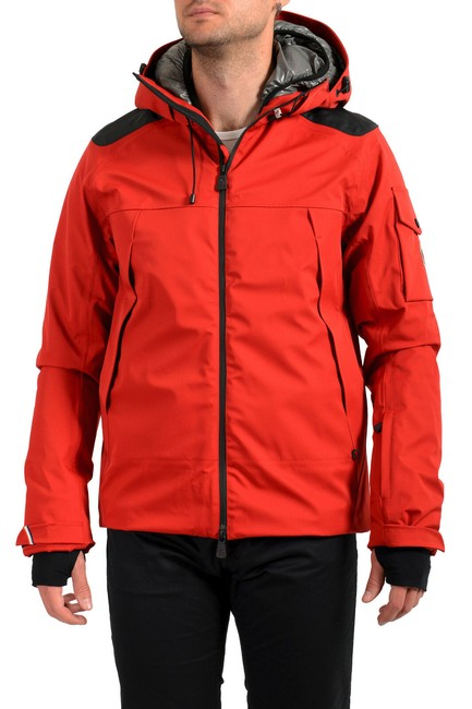 """Item - Bright Red Men's """"Foux"""" Hooded Full Zip Down Parka Jacket Size 8 (M)"""