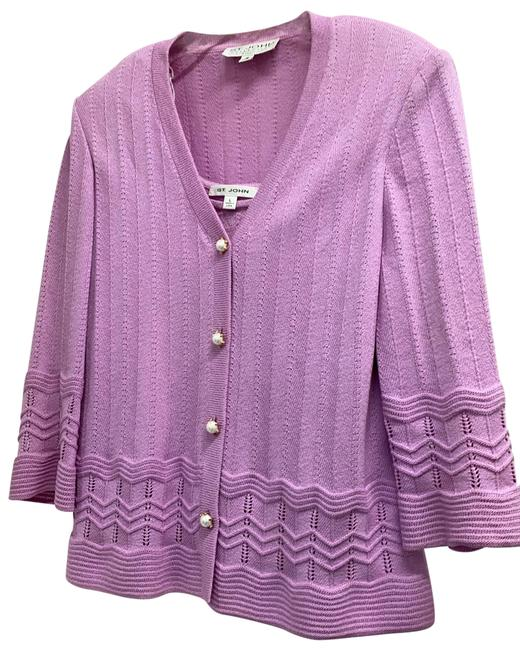 Item - Lavender with Pearl Buttons Twin Sweater Set Cardigan Size 12 (L)