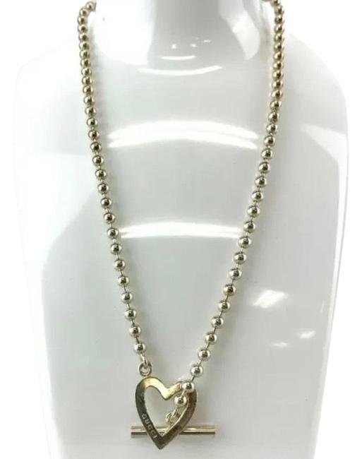 Item - Silver Heart Toggle Necklace