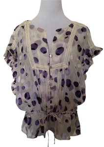 Black Rainn Top Purple/White