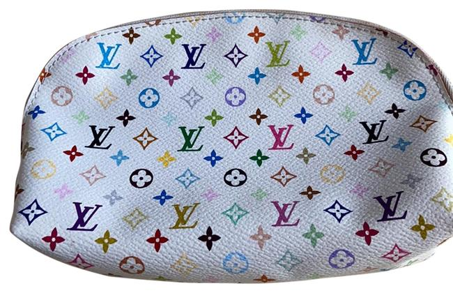 Item - White Pouch Lv Date Code: Ca5101 Cosmetic Bag