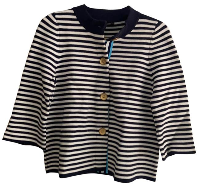 Item - Cotton Blue and White Sweater