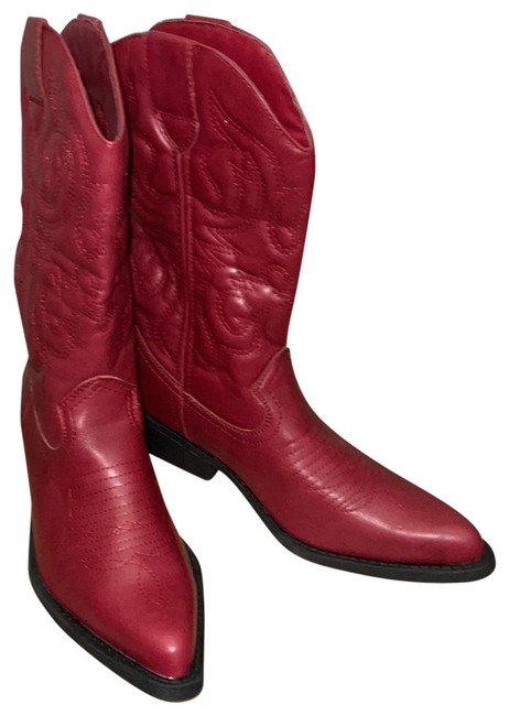 Item - Red Cowboy Boots/Booties Size US 7 Regular (M, B)