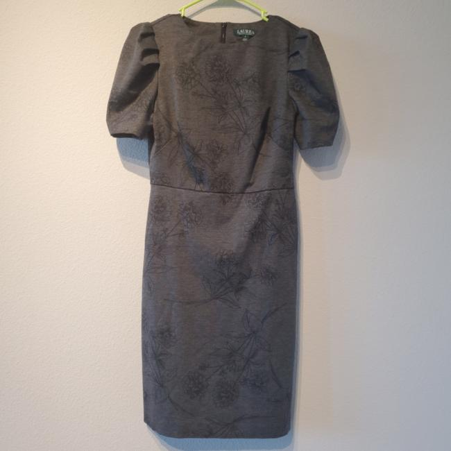 Item - Gray Puff Sleeve Mid-length Work/Office Dress Size 2 (XS)