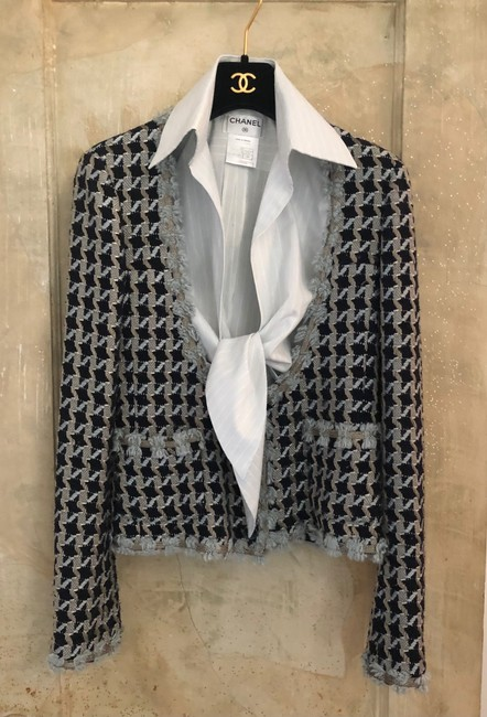 Item - Houndstooth and Blouse Jacket Size 2 (XS)