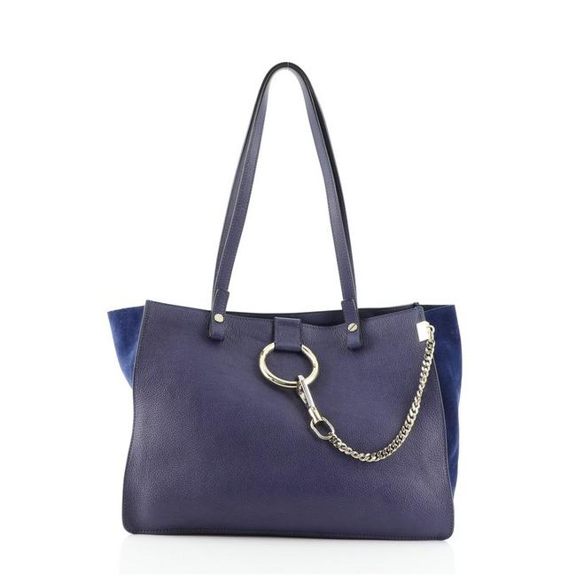 Item - Faye Small Blue Leather Tote