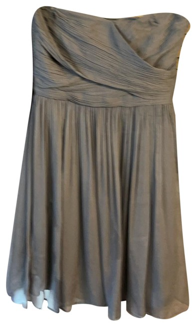Item - Gray Special Occasion Short Cocktail Dress Size Petite 8 (M)