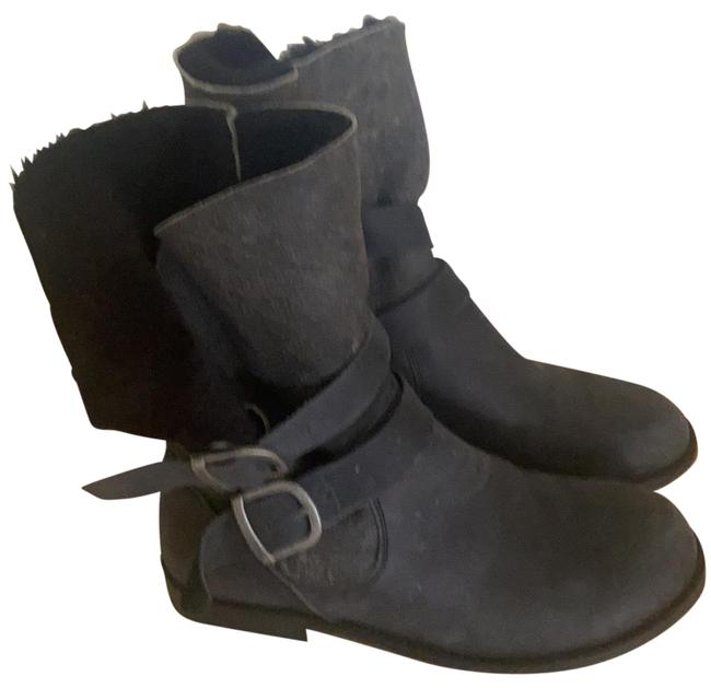 Item - Black Moto Shearling Lined Boots/Booties Size US 8 Regular (M, B)