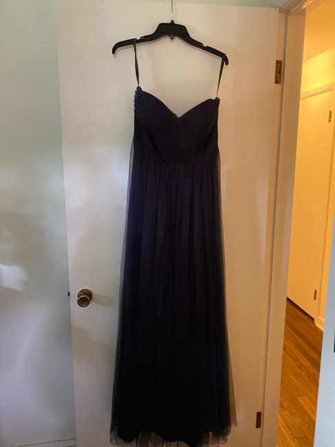 Item - Navy Soft Tulle Annabelle Convertible Formal Bridesmaid/Mob Dress Size 12 (L)