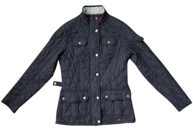 Item - Navy Blue Buryhead Quilted Jacket Coat Size 4 (S)