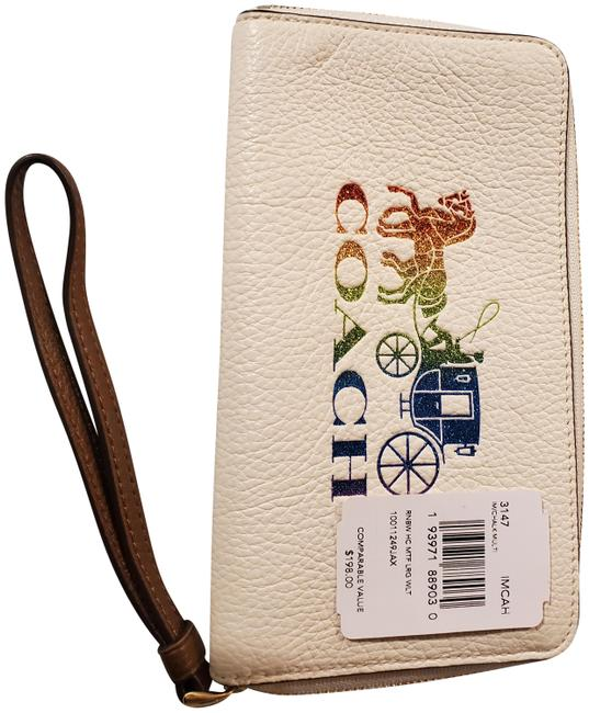 Item - With Matching Wallet White Leather Cross Body Bag