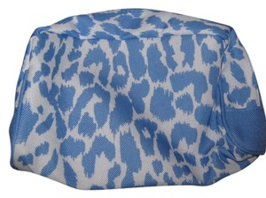 Estée Lauder Estee Lauder white w/blue animal print cosmetic bag