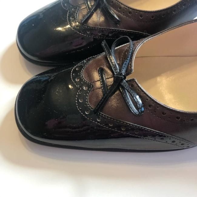 Salvatore Ferragamo Brown Black Vintage Inspired Patent Bow Pumps Size US 9 Narrow (Aa, N) Salvatore Ferragamo Brown Black Vintage Inspired Patent Bow Pumps Size US 9 Narrow (Aa, N) Image 9