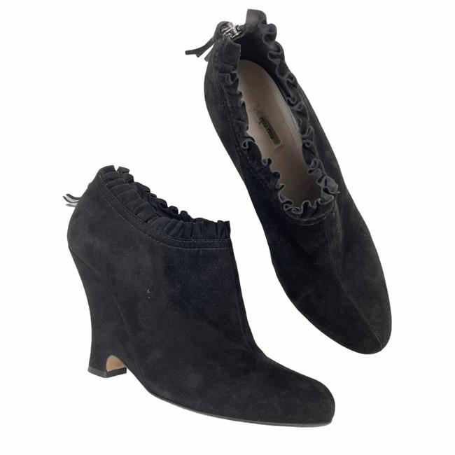 Item - Black Pleated Ankle Boots/Booties Size EU 40 (Approx. US 10) Regular (M, B)