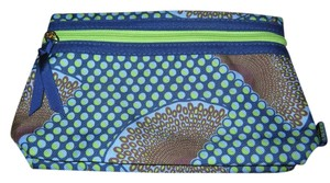 Estée Lauder Estee Lauder blue/lime green/brown design makeup bag