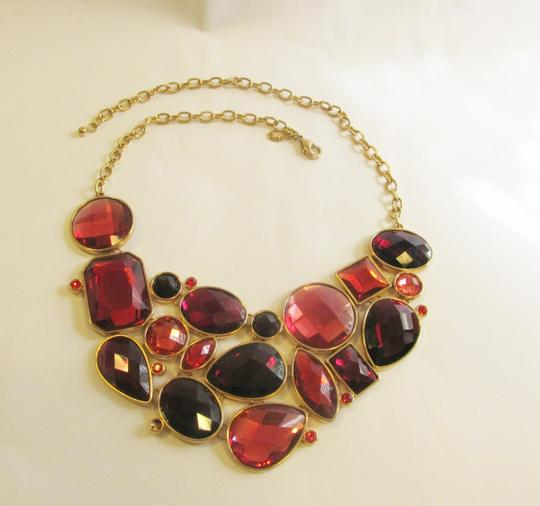 "Joan Rivers Joan Rivers Couture Faceted Crystal Adjustable Bib Necklace with 3"" Extender"