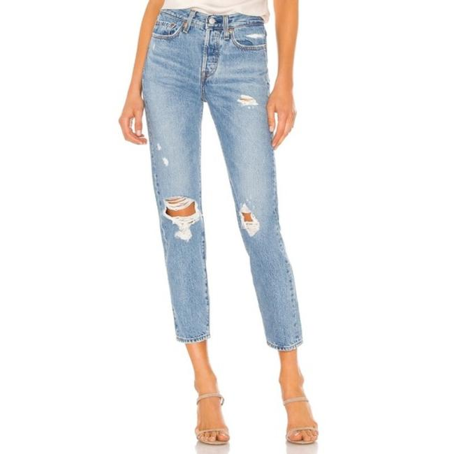 Item - Blue Distressed Wedgie In Authentically Yours Straight Leg Jeans Size 26 (2, XS)