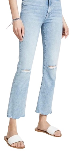 Item - Blue Light Wash Hustler Ankle In Drinking By The Pool Flare Leg Jeans Size 29 (6, M)