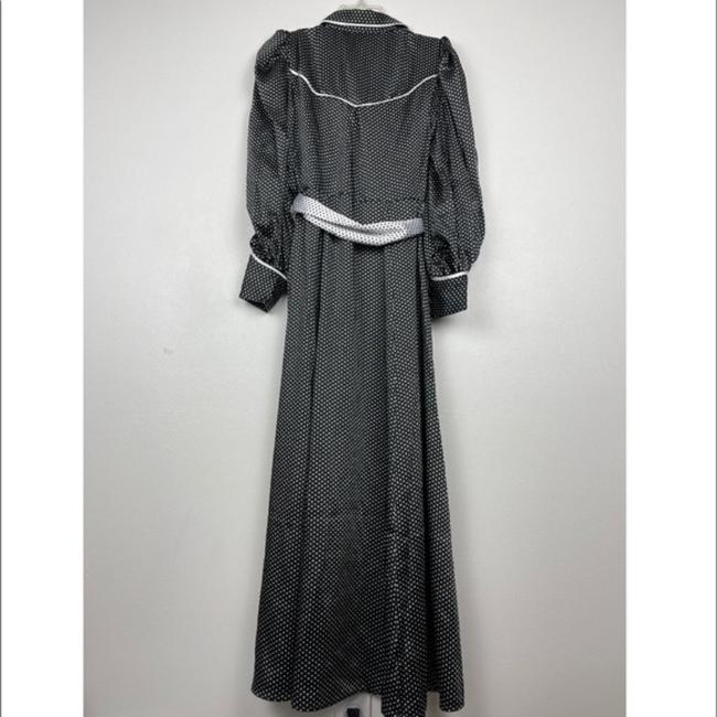 C/meo Collective Black Polka Dot Belted Shirt Long Casual Maxi Dress Size 2 (XS) C/meo Collective Black Polka Dot Belted Shirt Long Casual Maxi Dress Size 2 (XS) Image 4