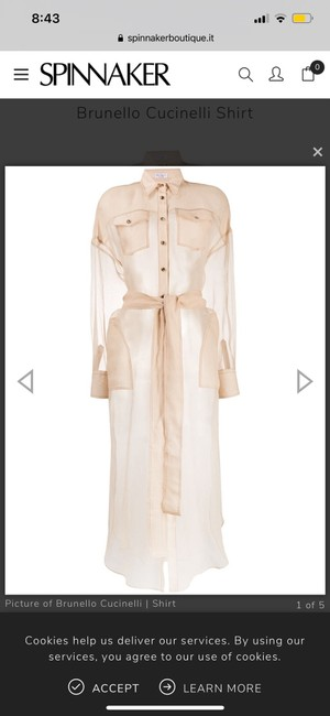 Item - Nude & Neutrals Shirt In Silk By Mf940nv336 Maternity Dress Size 6 (S)