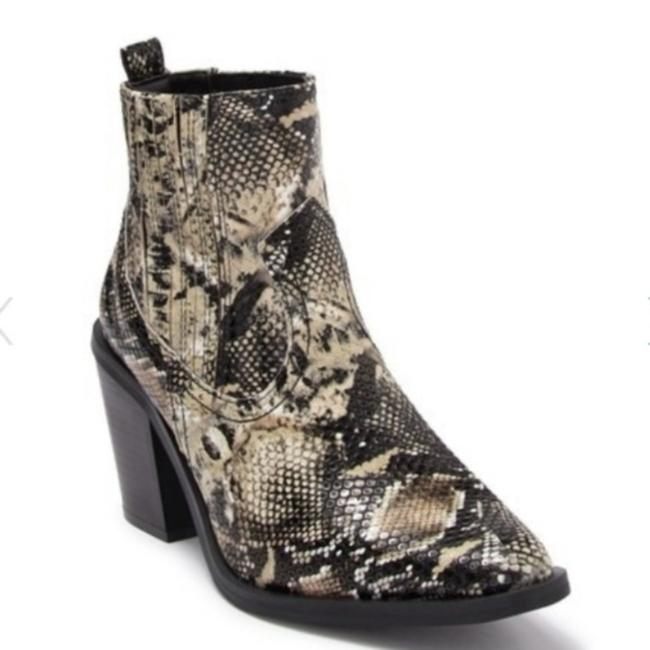 Item - Gray / Black New Eve Snake Print Square Toe Ankle Sz-11 Boots/Booties Size US 11 Regular (M, B)
