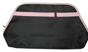 Lancome black w/light pink trim and silver buckle cosmetic bag/clutch