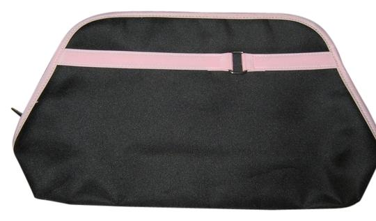 Other Lancome black w/light pink trim and silver buckle cosmetic bag/clutch