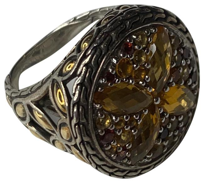 Item - Multicolored 18kt Gold Kawung Multi Stone Round Size 6 Ring