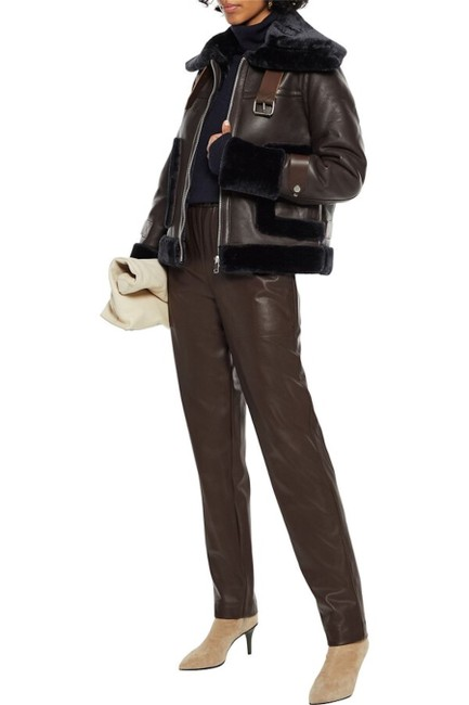 Item - Coffee/Navy Lianna Leather/Faux Shearling Jacket Size 6 (S)