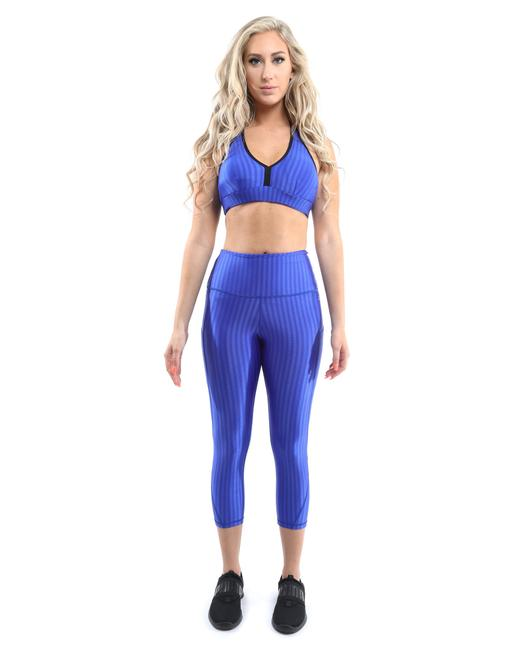 Item - Blue Firenze Set & Sports Bra - [made In Italy] Activewear Bottoms Size 6 (S, 28)