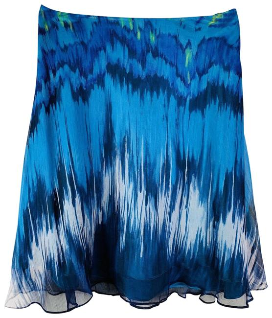 Item - Blue White Zip A-line Skirt Size 4 (S, 27)