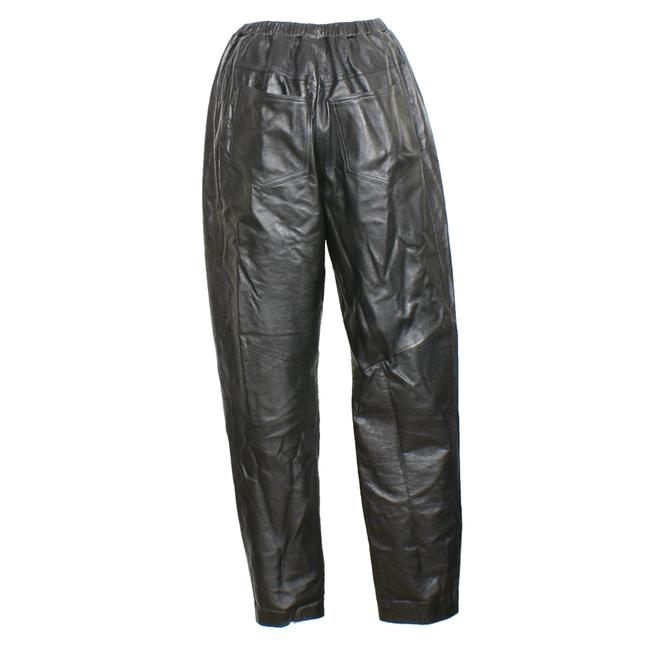 A Pea In The Pod Black Leather Moto Skinny Pants Maternity Bottoms Size 6 (S, 28) A Pea In The Pod Black Leather Moto Skinny Pants Maternity Bottoms Size 6 (S, 28) Image 2