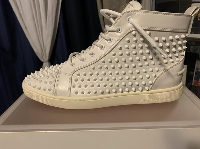 Item - White Louis Spikes High Top Sneakers Size US 10 Regular (M, B)
