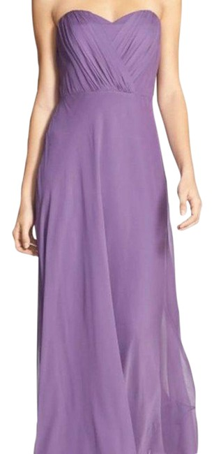 Item - Lavender Shirred Chiffon Strapless Gown Long Formal Dress Size 6 (S)