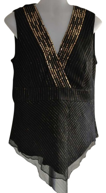 Spenser Jeremy Top Black with Gold thread & sequins