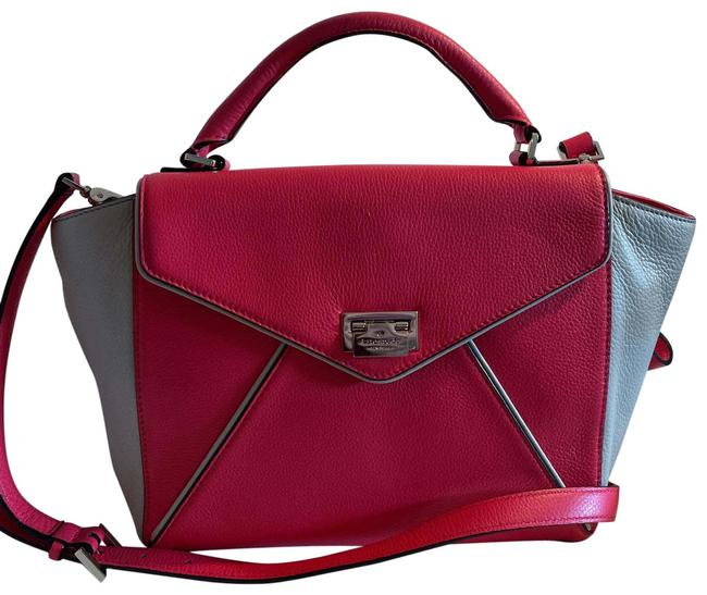 Item - Toned Coral with Tan Leather Satchel