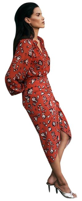 Item - Red Cheryl Floral In Multi Skirt Size 8 (M, 29, 30)