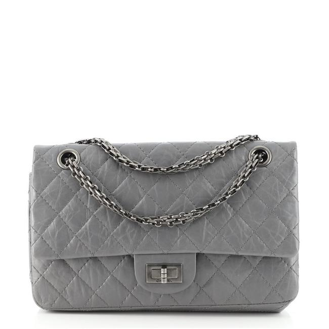 Item - 2.55 Reissue Classic Flap Reissue Quilted Aged Calfskin 225 Gray Leather Cross Body Bag