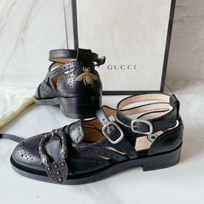 Item - Black Dionysus Queercore Lifford Brogue Monk Embroidered Bee Tiger Sandals Size US 5.5 Regular (M, B)