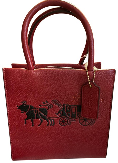 Item - Lunar New Year Mini Cally Bold Red Leather Cross Body Bag