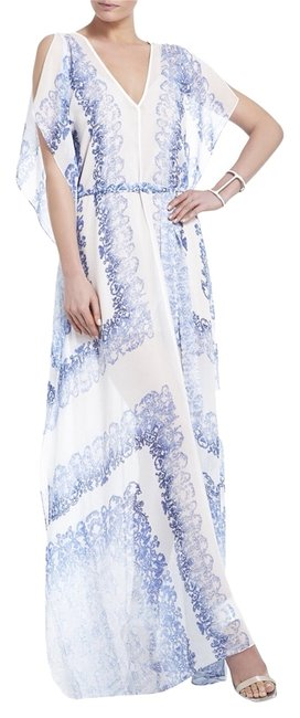 Blue And White Maxi Dress by BCBGMAXAZRIA